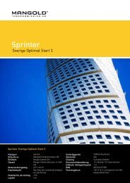 Sprinter - Mangold Fondkommission