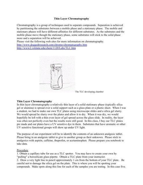 Thin Layer Chromatography Pdf