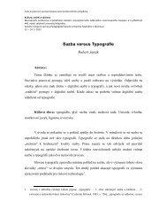 Janák. Sazba versus Typografie - Katedra výtvarné výchovy PdF UP