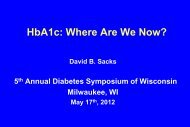 HbA1c: Where Are We Now?
