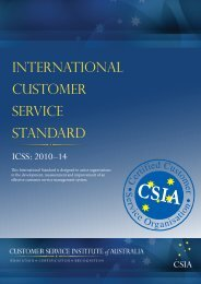 International Customer Service Standard