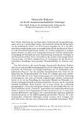 Historische Reflexion als Kritik naturwissenschaftlicher ... - Philosophie
