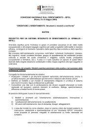 Convegno nazionale Isfol sull'orientamento - la formazione ...