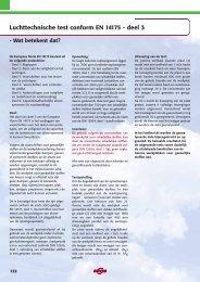 Luchttechnische test conform EN 14175 - deel 3