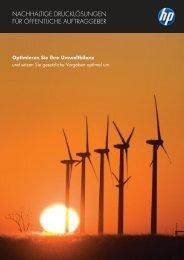 Drucken und Nachhaltigkeit - Hewlett-Packard