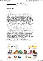 Spielfreude - Nzz.ch, 29.05.2012