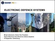 electronic defence systems - Saab