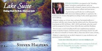 Lake Suite - Inner Peace Music Steven Halpern