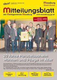 Ausgabe Nummer 218, Dezember 2012 - Marktgemeinde Moosburg