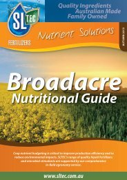 Broadacre Nutritional Guide - Sustainable Liquid Technology