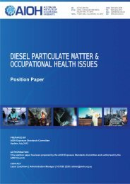 diesel particulate matter & occupational health issues - the AIOH