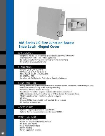 Snap Latch Hinged Cover - Solutions Direct