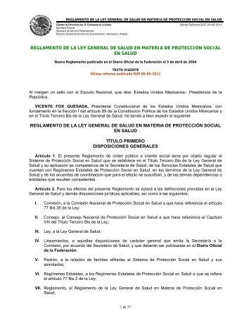 ley general de salud en materia de prestacion de servicios: