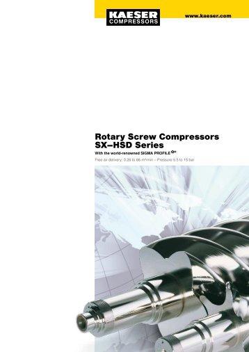 Rotary Screw Compressors SX–HSD Series - Kaeser Compressors
