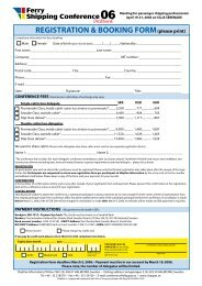 REGISTRATION & BOOKING FORM(please print) - Shippax