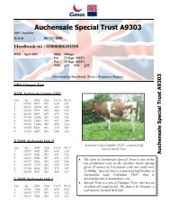 Auchensale Special Trust A9303 - Genus UK website