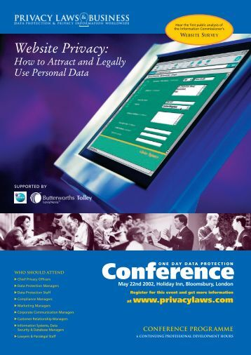 Conference - Privacy Laws & Business