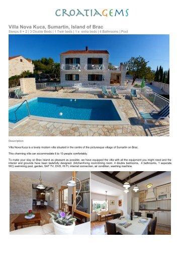 Villa Nova Kuca - Croatia Gems