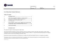 List of hazardous substances, in English - Saab