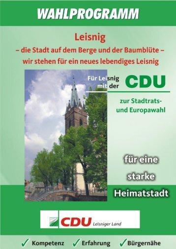 Wahlprogramm - Textform - CDU Leisnig