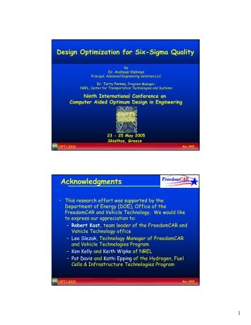 Design Optimization for Six-Sigma Quality - Advanced Engineering ...