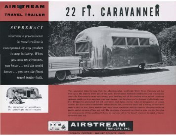 22 FT. CARAVANNER - Airstream