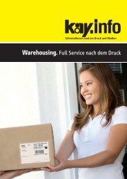 Warehousing. Full Service nach dem Druck