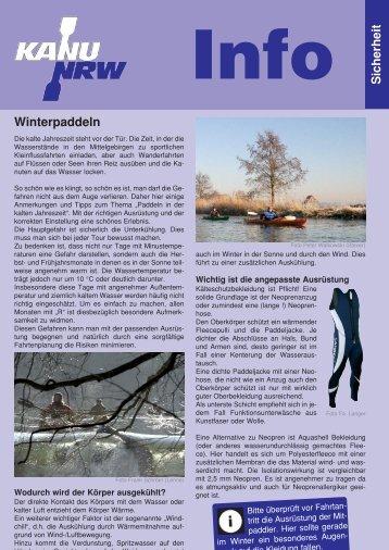 Winterpaddeln Sicherheit - Kanu-Verband Nordrhein-Westfalen e.V.