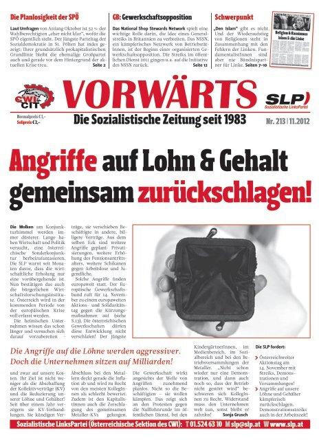 Angriffeauf Lohn & Gehalt gemeinsam zurückschlagen! - SLP