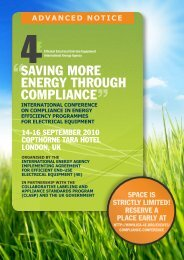 saving more energy through compliance - 4E - Efficient Electrical ...