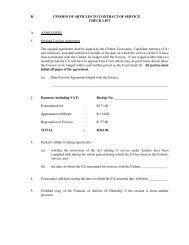 B. CESSION OF ARTICLES TO CONTRACT OF ... - Natal Law Society