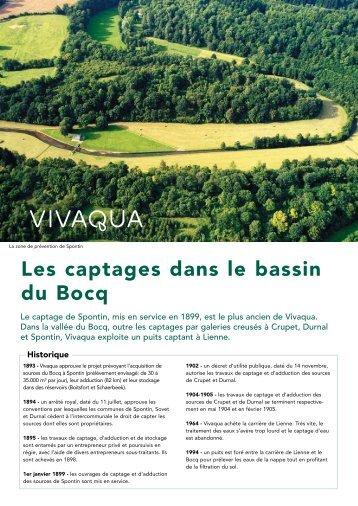Les captages dans le bassin du Bocq - Vivaqua