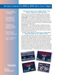 Verbatim DataLife 8MM & 4MM Data Cartridges