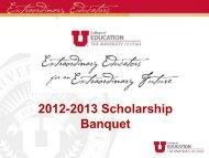 2012-2013 Scholarship Recipients - College of Education
