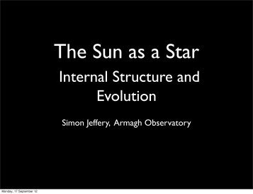 Presentation in PDF format. - Armagh Observatory