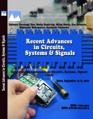 Recent Advances In CIRCUITS, SYSTEMS And SIGNALS - Wseas.us