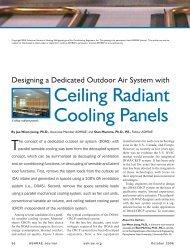Ceiling Radiant Cooling Panels - DOAS