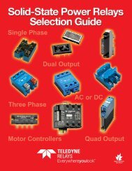 Download our ISSR Selection Guide! - Teledyne Relays