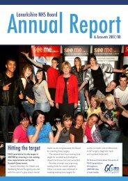 Annual Report 2007-2008 - NHS Lanarkshire