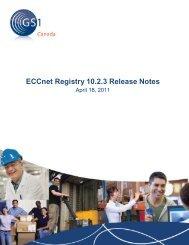 ECCnet Registry 10.2.3 Release Notes - GS1 Canada