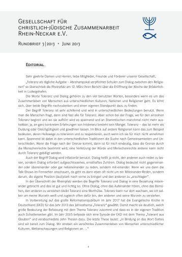 Gesellschaft für christlich-jüdische Zusammenarbeit Rhein-Neckar e.V.