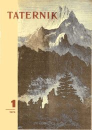 Taternik 1 1974 - Polski Związek Alpinizmu