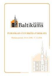 Finanšu rādītāji par 2008.gada 4. ceturksni - Baltikums