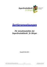 Sortieranweisungen SuperDrecksKÃ«scht fir Biirger