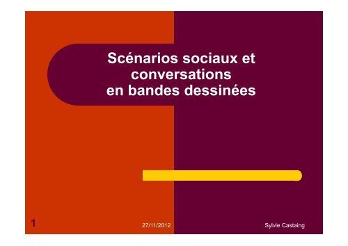 Les scénarios sociaux - Sylvie Castaing - Chez