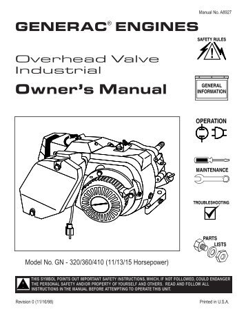 Generac gp5500 manual download