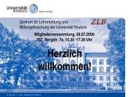 Präsentation, pdf 1.244 KB - Zentrum für Lehrerbildung und ...