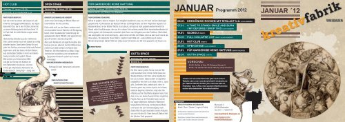 Januar 2012 - Kreativfabrik