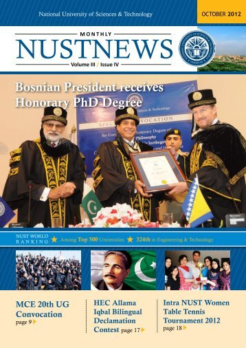 NUSTNEWS October-2012 - National University of Science and ...