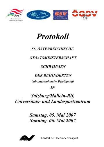 ÖStM Schwimmen - Ergebnislisten des österreichischen ...